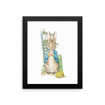 Peter Rabbit Framed Poster, Beatrix Potter Peter Rabbit Framed Art Print