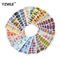 WUF 20 Sheets DIY Full Wraps Decals Water Transfer Printing Stickers Accessories For Nails Art