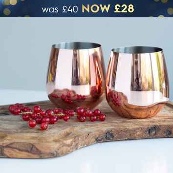 rose copper tumbler set by oh so cherished | notonthehighstreet.com