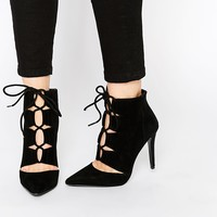ALDO Eraede Black Suede Cut Out Shoe Boots