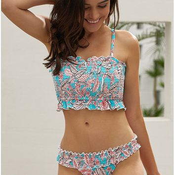 Swimsuit women's two-piece new print bikini split