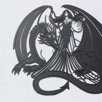 Dragon Lady Metal Wall Art