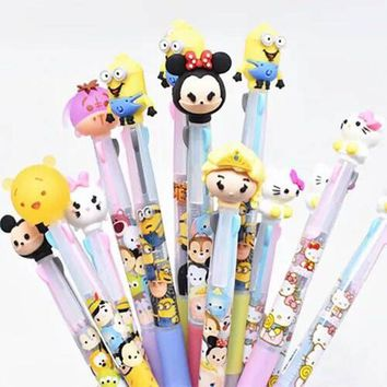 Kitty Princess Flamingo Minions Mickey 3 In 1 Ballpoint Pen Drawing Pen Office School Supply Student Stationery