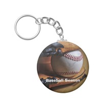 KeyChain: Baseball Season Basic Round Button Keychain