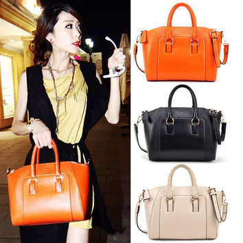 New Fashion Women Messenger Handbag Crocodile Pattern Leather Tote Shoulder Bag 7_S = 1905896388