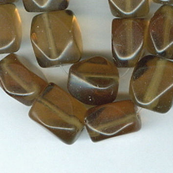 Smokey Quartz Faceted Rectangle Square Gemstone Beads - 13x8mm