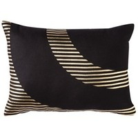 Nate Berkus Oblong Gold Foil Pillow