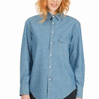 BOY BY BAND OF OUTSIDERS CHAMBRAY WESTERN SHIRT - WOMEN - TOPS - BOY BY BAND OF OUTSIDERS