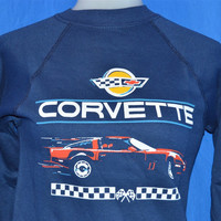 80s Deadstock Chevrolet Corvette Sweatshirt Youth Medium