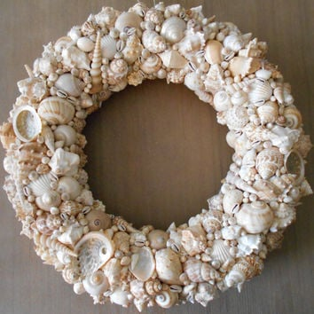 SeaShell Wreath, Shell Wreath, Beach Decor, Beach Wedding Decor, Beach Wedding Gift