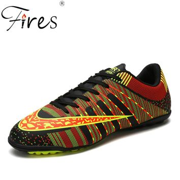 FiresTurf zapatos de soccer Men Soccer Shoes Brand Indoor Football Shoes grass sport futsal shoes Football Kids Soccer Shoes