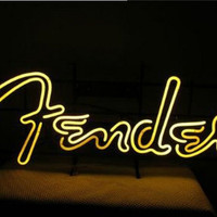 Fender Guitar Neon Sign