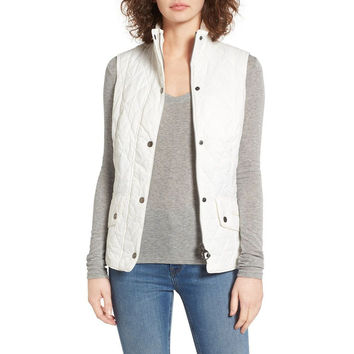 Flyweight Cavalry Quilted Gilet in Cloud by Barbour