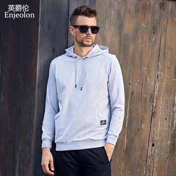 Long Sleeve  hoodies Sweatshirt Men cotton clothes Black casual Sweatshirt Men Solid Pullover Clothing