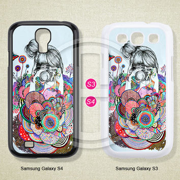 Phone cases, Flower, Girl, Samsung Galaxy S3 S4 S5 Case, Samsung Galaxy Note 2 3 case, Case for Samsung--S0244