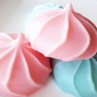 Cotton Candy Meringue Soaps