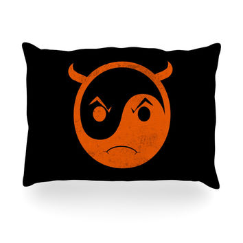 "Frederic Levy-Hadida ""Yin Yang Diablo"" Oblong Pillow"