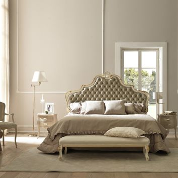 Double bed with tufted headboard CHANTAL Bludi Betty Collection by Bolzan Letti