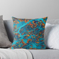 'Colourful trees' Throw Pillow by steveball