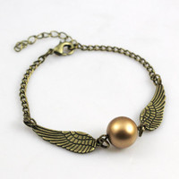 Harry Potter ,Golden Snitch Bracelet  Brass Bracelet ,Ball Wing Braclet