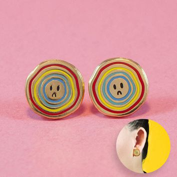 Sad Face Earrings