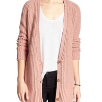 Banana Republic Womens Factory Long Vee Cardigan