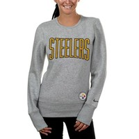 Nike Pittsburgh Steelers Ladies Tailgater Fleece Crew Neck Sweatshirt - Ash