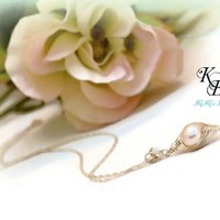 Bridal Necklace, Peapod Necklace, Sterling Silver Necklace, Mother Of The Bride, Peapod Pendant, Bridal Shower Gift, Wedding Jewelry | KyKy's Bridal, Handmade Bridal Jewelry, Wedding Jewelry