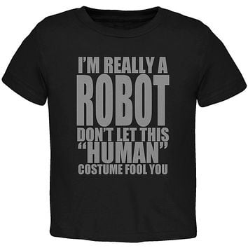 Halloween Human Robot Costume Toddler T Shirt