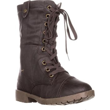 Wanted Colorado Knit Combat Boots, Brown, 5.5 US / 35.5 EU