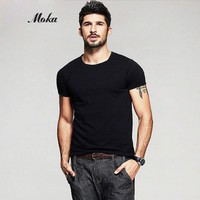 2pcs Men Black Undershirt Cotton Undershirt Underwear Clothing Man Solid Color O neck Sleeve Relax Breathable Strench Underpants