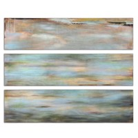 Horizon View Hand Painted Panel Set/3