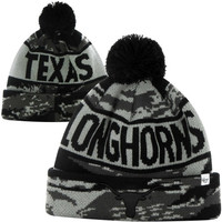47 Brand Texas Longhorns Tigertooth Cuffed Knit Hat - Ash/Black