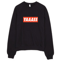 YAAASS Obey Typography Sweater