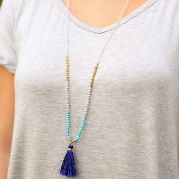 Breaking Rules Necklace - Blue