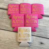 Personalized Austin Bachelorette Party Coolies