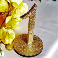 Table numbers wedding Glitter Table Numbers  Decor Gold Wedding Gold or Silver Glittery Table Numbers for Wedding Wooden  Table Numbers