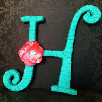 Custom Decorative Monogram-Letter H by Tightly Wound Designs