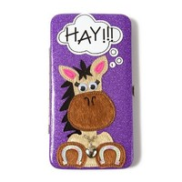 Glitter Horse Hardcase Wallet  | Claire's