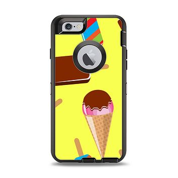 The 3d Icecream Treat Collage Apple iPhone 6 Otterbox Defender Case Skin Set