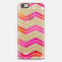 Watercolor Glittery Chevron 01 iPhone 6 case by Noonday Design | Casetify