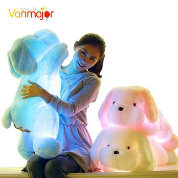 1PCS 50CM/75CM Length Creative Night Light LED Lovely Dog Stuffed And Plush Toys Best Gifts For Kids And Friends