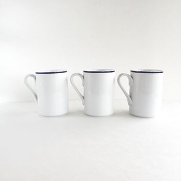 Trio of Vintage Dansk Bistro Christianshavn Blue Cups by Niels Refsgaard
