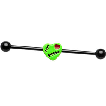 Zombie Heart Industrial Barbell | Body Candy Body Jewelry
