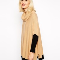 River Island Blocked Cowl Neck Sweater