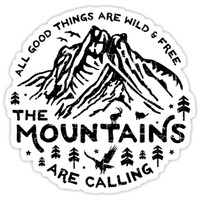 'Mountains are Calling' Sticker by posay