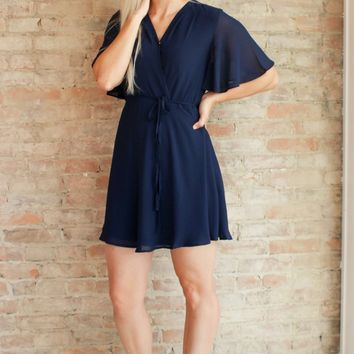 Sofia Dress - navy