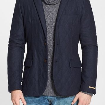 Scotch & Soda Quilted Herringbone Blazer