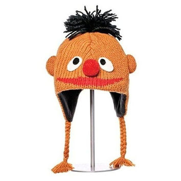 Knitwits Kids' Sesame Street Ernie Lightweight Warm Knit 100% Wool Beanie Hat