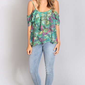 show me your mumu: romance ruffle top - rainforest cafe